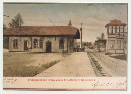1908 Post Card of Hopewell Depot